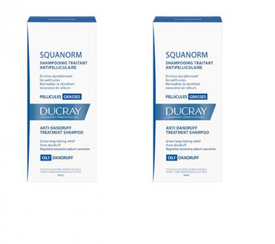 Ducray Squanorm Matreata Grasa x 200ml (1+1x50% reducere)