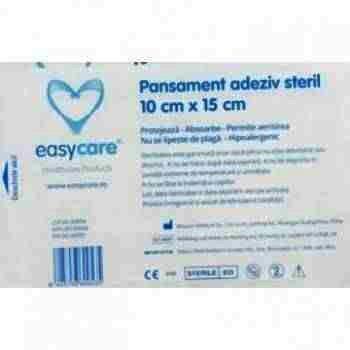 Easy Care Pansament Adeziv Steril 10 cm x 10 cm x 50