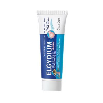 Elgydium Junior Pasta de dinti cu aroma bubble gum pentru copii 7-12 ani, 50 ml