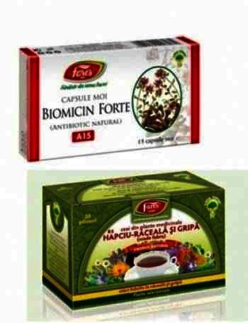 Fares Biomicin Forte -cps.moi x 15 + Ceai Hapciu (Oferta)