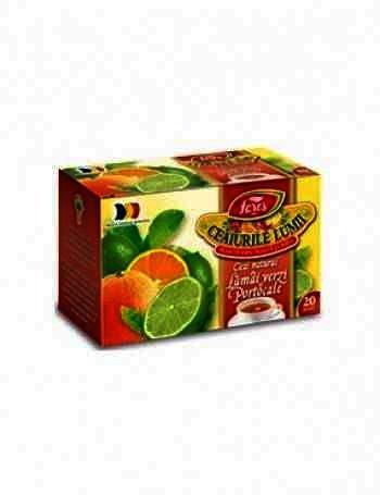 Fares Ceai Natural Lamai verzi si Portocale x 20plc.