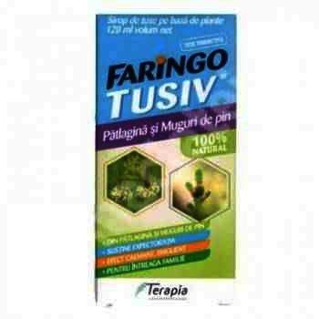 Faringo Tusiv Patlagina si Muguri de Pin - sirop x 120ml -Terapia Ranbaxy
