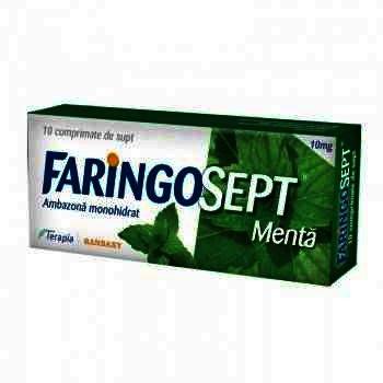 Faringosept Menta 10 mg -cpr.supt x 10 - Terapia