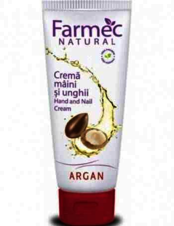 Farmec Natural crema Maini&Unghi Argan x 100ml