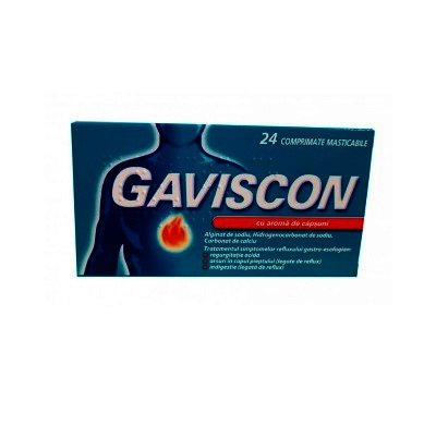Gaviscon Capsuni -cpr.mast x 24 - Reckitt