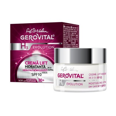 Gerovital Evolution Crema Lift Hidratanta SPF10 - 30+ x 50 ml