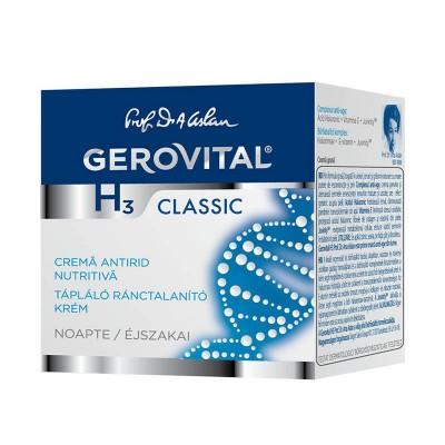 Gerovital H3 Classic Crema Antirid Nutritiva Noapte x 50 ml