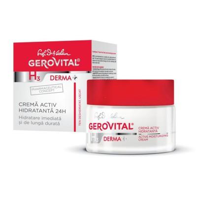 Gerovital H3 Derma Plus Crema Active Hidratanta 24h x 50 ml