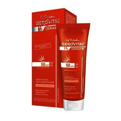 Gerovital H3 Derma Plus Crema Fata Anti-imbatranire SPF50+ x 50 ml