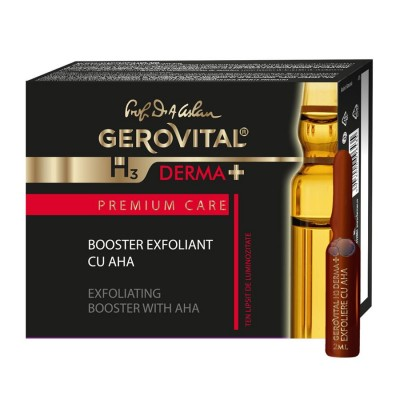 Gerovital H3 Derma Plus Premium Care Booster Exfoliant cu AHA 2ml - fl. x 4