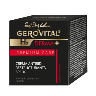 Gerovital H3 Derma Plus Premium Care Crema Antirid Restructuranta SPF10 x 50 ml