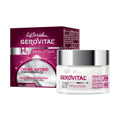 Gerovital H3 Evolution Crema Antirid cu Acid Hyaluronic x 50 ml