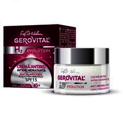 Gerovital H3 Evolution Crema Antirid Intens Hidratanta x 50 ml