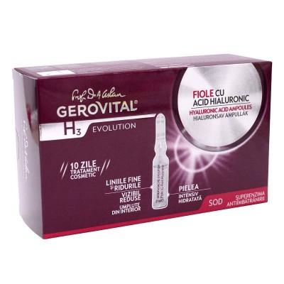 Gerovital H3 Evolution Fiole cu Acid Hialuronic x 10 fiole