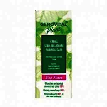 Gerovital Plant Acnee Crema Seboreglatoare Purifianta x 50 ml