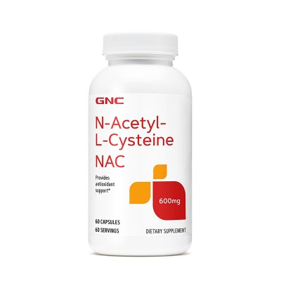 GNC N-Acetyl-L-Cysteine NAC 600mg - capsule x 60
