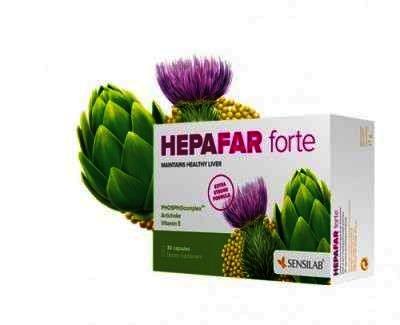 Hepafar Forte pentru detoxifierea ficatului, 30 capsule, Sensilab