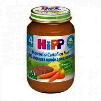 Hipp Morcovi si Cartofi cu Carne de Miel x 190 g