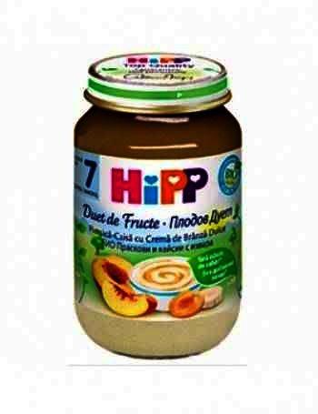 Hipp Piure Duet Piersici/Caise Cr. Branza 160g