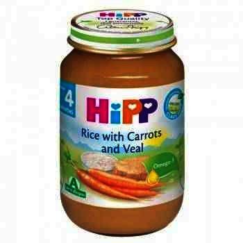 Hipp Piure Orez cu Morcov si Vitel 125g