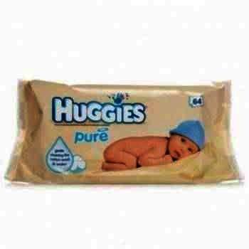 Huggies Pure Servetele Umede Copii x 64