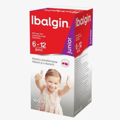 Ibalgin Junior 200 mg/5 ml -susp.orala x 100 ml