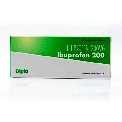 Ibuprofen 200mg-cpr. x 20 Cipla India