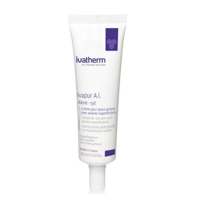 Ivatherm Ivapur AI Akne-Syt Crema pentru piele grasa cu imperfectiuni severe x 30ml