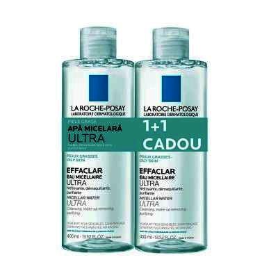 La Roche Posay Effaclar Apa Micelara Ultra x 400 ml (1+1 Oferta)