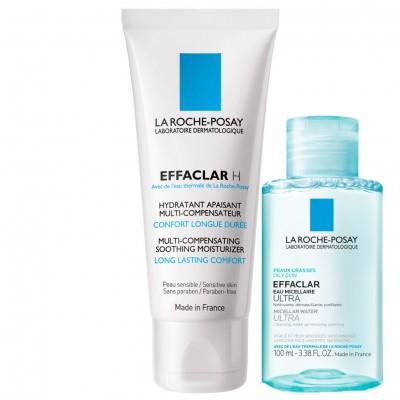 La Roche Posay Effaclar H Crema Hidratanta PieleAcneicax40ml+LaRochePosay EffaclarApaMicelara(Cadou)