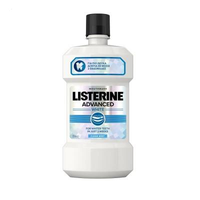 Listerine Apa Gura Advanced White x 250 ml