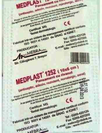 Mebra Medplast Plasturi Rivanol 10 cm x 6 cm x 150