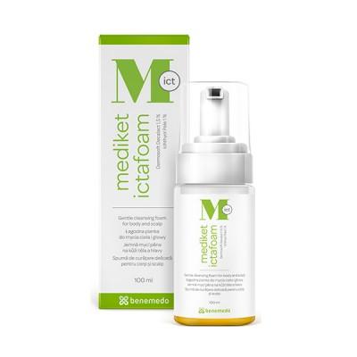 Mediket Ictafoam Spuma de curatare delicata pentru corp si scalp, 100 ml