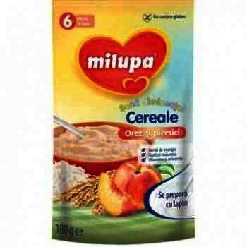 Milupa Buna Dimineata Cereale Orez si Piersici x 180 g