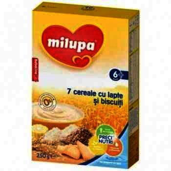 Milupa Cereale 7 Cereale Lapte/Biscuiti x 250 g