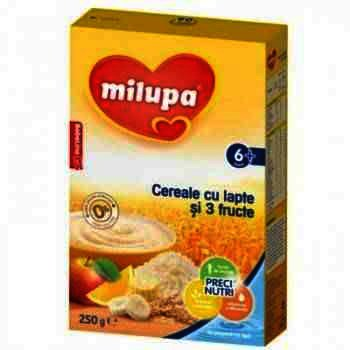 Milupa Cereale Lapte 3 Fructe x 250 g