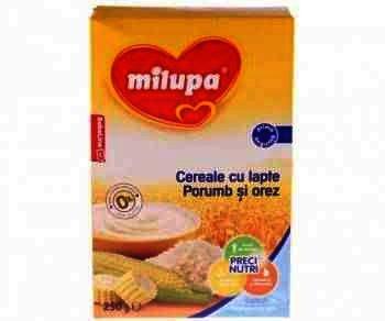 Milupa Cereale Lapte/Orez/Porumb x 250 g