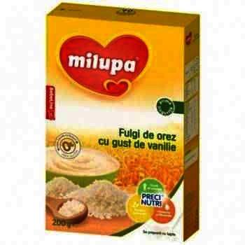 Milupa Cereale Lapte/Orez/Vanilie x 200 g