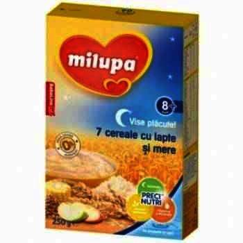 Milupa Vise Placute 7 Cereale Lapte/Mere x 250 g