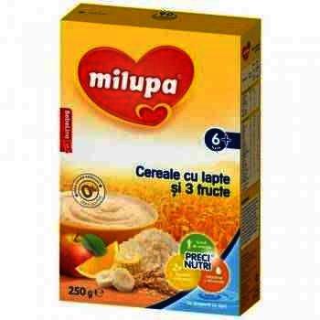 Milupa Vise Placute Multicereale Fructe 6+ x 250 g