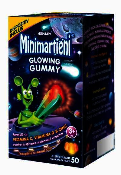 Minimartieni Glowing Gummies 50 jeleuri