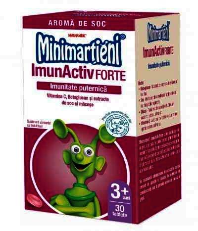 Minimartieni ImunActiv Forte 30 tb masticabile