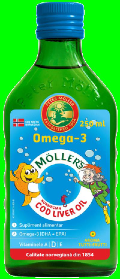 Mollers Cod Liver Oil Omega 3 Tutti Frutti x 250 ml