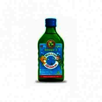 Mollers Cod Liver Oil Omega 3 x 250 ml + Omega Forte -cps x 30 (Oferta)