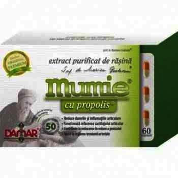Mumie Extract Purificat Rasina + Propolis -cps x 60