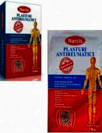 Narcis Plasturi Antireumatici 6 cm x 9 cm