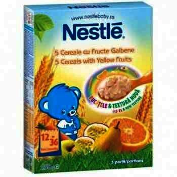 Nestle 5 Cereale Fructe Galbene x 250 g