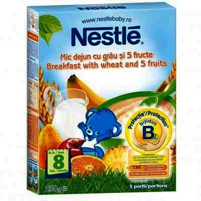 Nestle Mic Dejun Cereale Grau + 5 Fructe x 250 g.