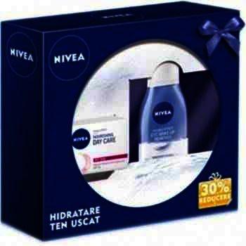 Nivea Cadou Aqua Effect Ten Normal (Demachiant Bifazic pt Ochi + Aqua Effect Crema de Zi)
