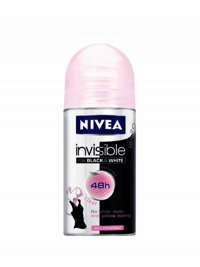Nivea Deo Roll-on Fem Blak&white Clear 50ml 82240